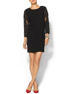 Contrast Sleeve Dress Product Image