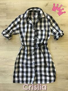 Super Προσφορά μόνο για τις Online αγορές σας! Καρό φόρεμα πουκάμισο σε  s-m-l-xl με ζωνάκι Το ένα τεμάχιο 11 d2e2510808a