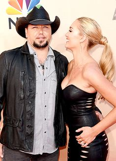 Newlyweds Jason Aldean and Brittany Kerr made a happy pair at L.A.'s Shrine Auditorium on March 29, when they attended the iHeartRadio Music Awards.