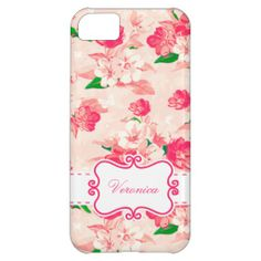 Peachy Vintage Floral iPhone 5c case