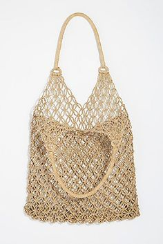 Pink Sands Woven Tote from Free People! Suede Tote Bag, Ethnic Bag, Fringe Purse, Macrame Bag, Pink Sand, Boho Bags, Day Bag, Knitted Bags, Purses And Handbags