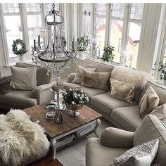 Glamorous and exciting living room decor. See more luxurious interior design details at luxxu.net