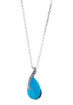 Parure chaîne et pendentif argent avec imitation pierres précieuses bleu et zirconium blanc #bijoux #boucles #bijouterie #jeandelatour_officiel #bijoutier #bijouxfemme #bijouxcreateur #mode #collier