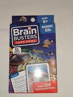 Brain Busters Dinosaurs Card Game 31 Cards Over 150 Trivia Questions Age 6 for sale online | eBay