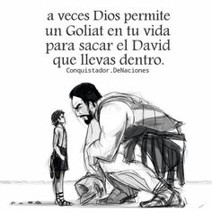 Vence a tu Goliat. Inspirational Bible Quotes, Faith Quotes, Life Quotes, Christian Images, Christian Quotes, Magic Words, Daily Inspiration Quotes, God Loves Me, God First