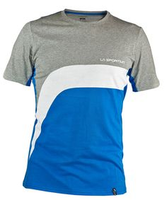 Mens La Sportiva Yellow Stripe White Gray Climbing Short Sleeve Cotton T Shirt M Fancy Colours Activewear