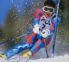 Laureus Academy Member Alberto 'Tomba la Bomba' Tomba had won three Olympic gold medals, had become the first person to successfully defend an Olympic title in Alpine skiing and had won 50 World Cup races.