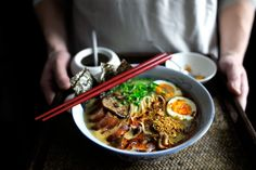 """THE VAMPIRE SLAYER RAMEN-EXPRESS (GARLIC BRAISED PORK BELLY - recipe). """"Call it the ramen with 40 cloves of garlic, wait, 44 cloves.  Or the ramen packed with opinions and comes with a pleasurably foul mouth.  Or call it, The Exorcist."""""""