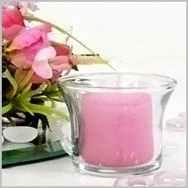unscented votive candles in bright bold colors