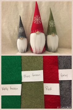 Christmas Gnome Swedish Tomte Nisse Felt Doll by ShopUrbanDesign