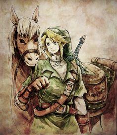 Link & Epona - #Zelda #OoT