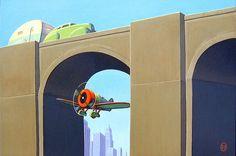 Our Gallery: The Streamlined World of Robert LaDuke – Dieselpunk Encyclopedia Art Deco Posters, Cool Posters, Nostalgic Art, Gallery Website, Vintage Travel Posters, Poster Vintage, Modern Artists, Art For Art Sake, Retro Futurism