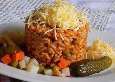 Srbské rizoto z vepřové plece recept - TopRecepty.cz Love Food, Baked Potato, Risotto, Grains, Paleo, Potatoes, Beef, Baking, Ethnic Recipes