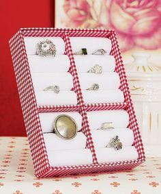Porta-anel de cartonagem