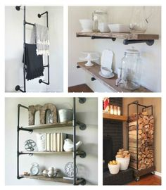 Best 20 Industrial Pipe Furniture Designs for A Cool and Chic Home Decor Diy Industrial Interior, Industrial Design Furniture, Industrial Pipe, Furniture Design, Industrial Style, Cheap Furniture, Furniture Projects, House Projects, Plumbing Pipe Furniture