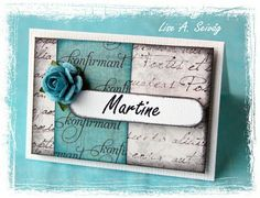 Table setting card