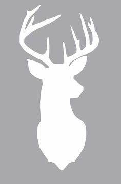 DIY Gliltter Deer Silhouettes || theviewfromhere.is