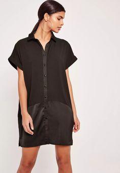 Adoptez un look chic avec cette robe noire contrastée.