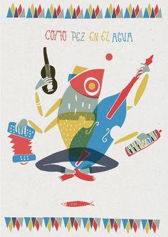 "Design for the Proyect ""Como Pez en el Agua"""