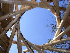 """Tony Wrench is a master of the reciprocal frame roof for round houses. He gets so many requests for help with building, he wants you to have a clear """"how-to"""". So here it is. How to build a reciprocal frame roof. Or reciframe. http://livinginthefuture.org/episodes/43-reciprocal-frame-roof-tony-wrench.php"""