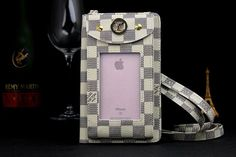Louis Vuitton Bag With Strap Cases For iPhone8/7/6S/6/Plus White