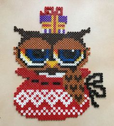 Christmas owl hama perler beads by Hamadeco