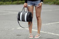 Givenchy and denim shorts