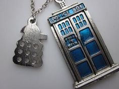 TARDIS and Dalek Necklace Doctor Who Inspired by lovespelljewels @Kristy Lumsden Gentry @Mary Powers Gomer