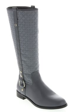 The twiggy LONDON leather and quilted twill riding boot is our go-to boot for a classic look this winter!