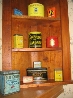 Tins collection ..I'm picky..only a few more in 35 yr. collection.