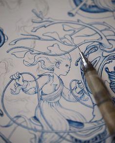 #drawing #wip #macro by jamesjeanart