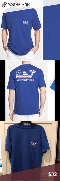 a35faf4d08 VINEYARD VINES American Flag Whale Graphic T-Shirt