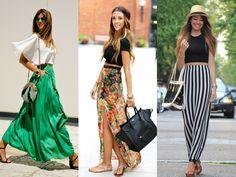 Como vestir uma saia longa em qualquer estação - Moda it