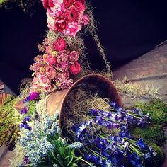 Delphiniums, Electric Blue, Floral Wreath, Wreaths, Flowers, Home Decor, Floral Crown, Decoration Home, Door Wreaths