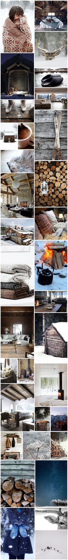 MOODBOARD | MY PERFECT WINTER CABIN – looks almost like a cup of Pittenweem Chocolate Co. hot chocolate!