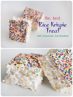 Meredith's Recipes: Meredith's *Perfect* Rice Krispie Treats....seriously like biting into a cloud