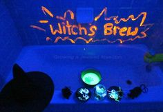 Glowing Witches Brew - this is so fun, and easy clean up too, all the mess goes down the drain!