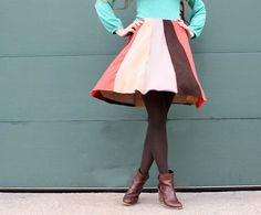 DIY: swing skirt from old sweaters