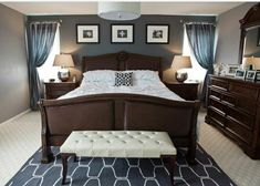 dream room - Dark Furniture Bedroom Ideas