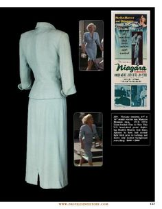 "Dress from the movie ""Niagara"" 1953"