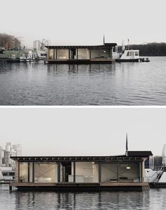11 Awesome Examples Of Modern House Boats // This modern houseboat in Berlin, Germany, is perfect for a quick getaway from the city, plus you can book it for your next holiday.