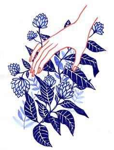 """Eloïse Heinzer, """"Fleurs bleues"""""""
