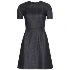 Victoria Beckham Denim - Denim dress #dress #victoriabeckham #offduty #women #designer #covetme #victoriabeckhamdenim