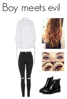 Intro: Boy Meets Evil by dream-believe-and-live on Polyvore featuring polyvore, fashion, style, Prabal Gurung, Topshop, WithChic and clothing
