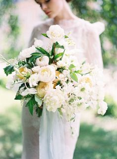 Garden ceremony | fine art bridal bouquet | white green bouquet | fine art wedding | France Wedding | Chateau de Carsix | Joy Proctor | Bows and Arrows flowers | film Photographer | Whiskers and Willow Photography