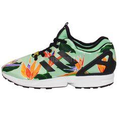 c2006650c458 Adidas Originals ZX Flux NPS Neoprene Graphic Hawaiian Floral Mens Running  Shoes