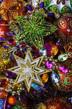 Christmas Photograph - Star Christmas Ornaments by Garry Gay Best Christmas Lights, Tabletop Christmas Tree, Christmas Is Coming, Beautiful Christmas, All Things Christmas, Christmas Time, Christmas Cards, Merry Christmas, Christmas Ornaments