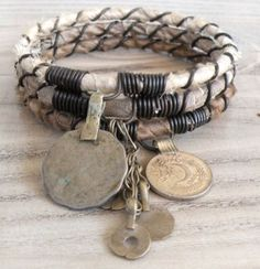 old coin bracelets with mixed elements http://srta-pepis.tumblr.com/archive