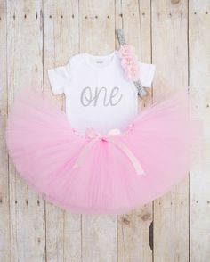 Pink and Silver Birthday Outfit...First by SweetChubbyCheeks
