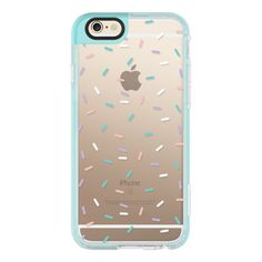 Pastel Confetti Sprinkles - iPhone 6s Case,iPhone 6 Case,iPhone 6s... (125 BRL) ❤ liked on Polyvore featuring accessories, tech accessories, phone cases, phones, cases, tech, iphone cases, iphone hard case, iphone cover case and clear iphone case